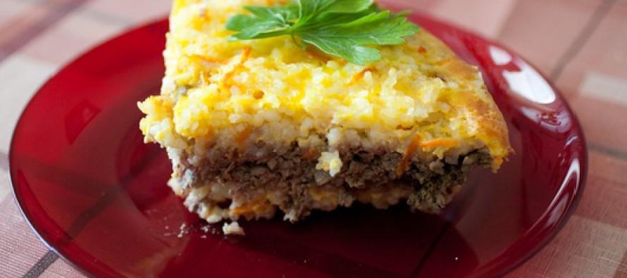 Рисовая запеканка с куриным фаршем в мультиварке рецепт
