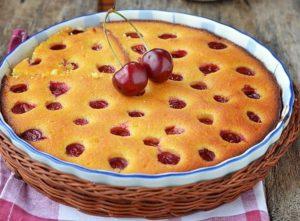 Пирог на кефире с вишней рецепт