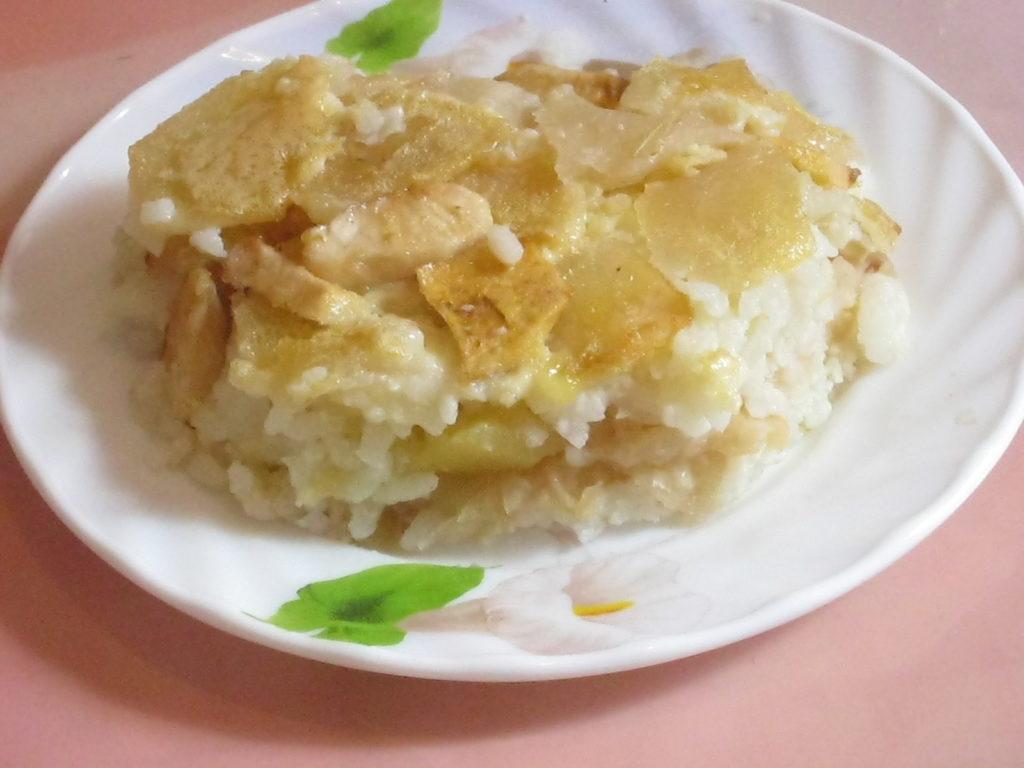 Рисовая запеканка с творогом и яблоками в мультиварке рецепт