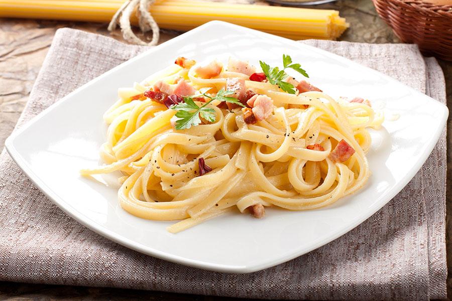 Паста Карбонара с беконом рецепт