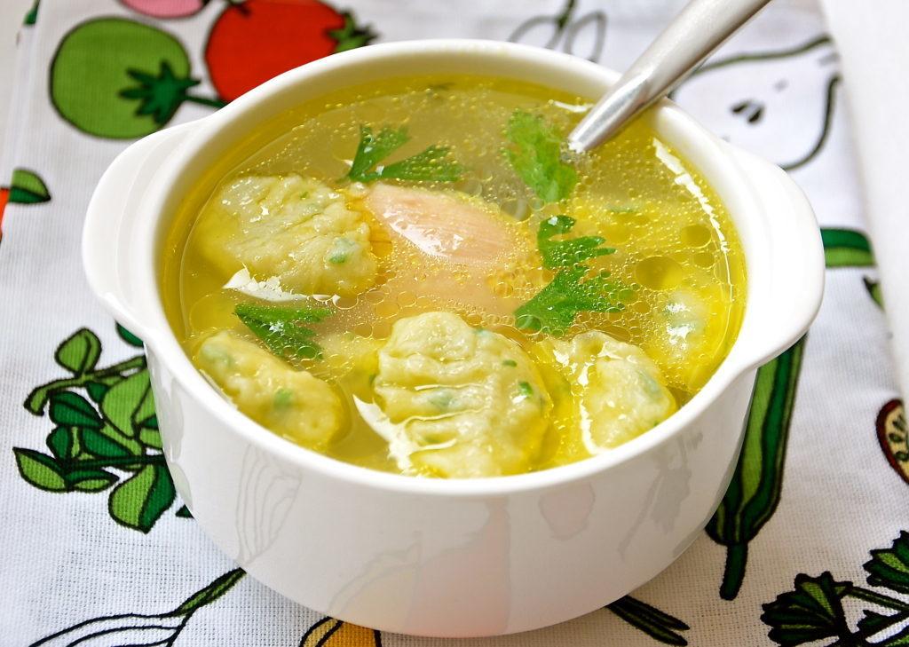 Суп с клецками рецепт
