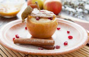 Яблоки запеченные с творогом рецепт