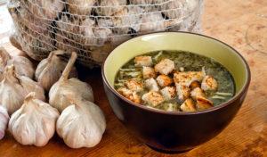 Чесночный суп рецепт