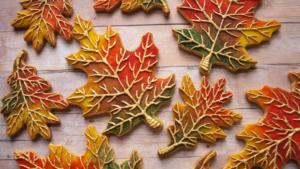 Печение Осенние листья рецепт